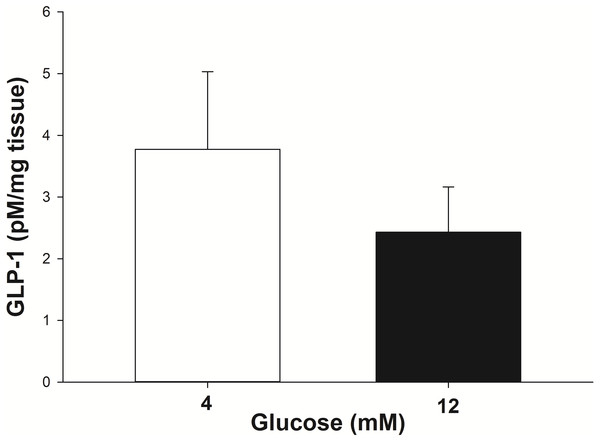 GLP-1 secretion by equine intestinal explants in response to glucose.