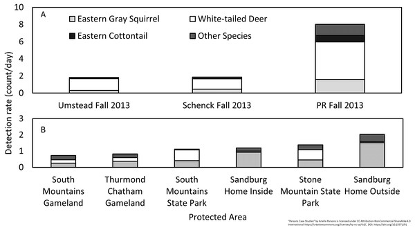 Diversity and relative abundance of wildlife species detected by camera traps.