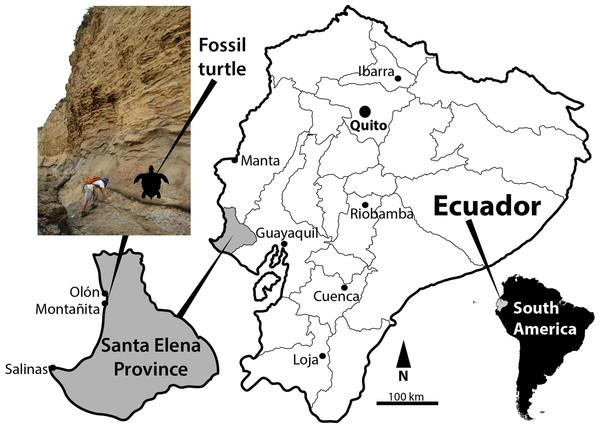Map of Ecuador showing Santa Elena Province.