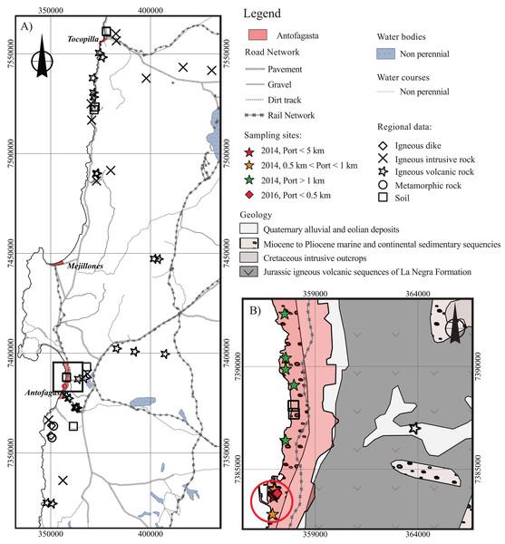 Antofagasta geology.