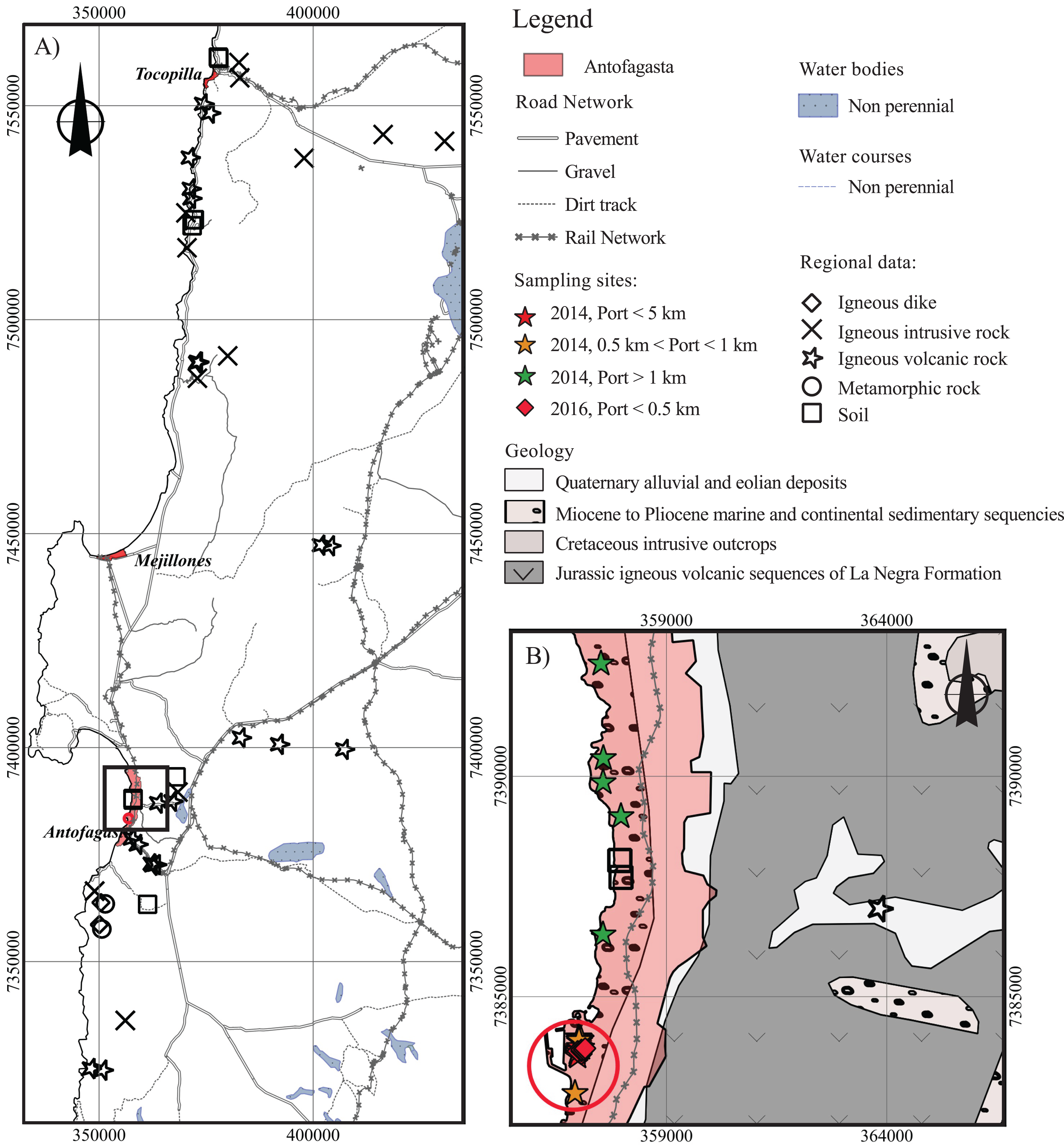 Geologic and anthropogenic sources of contamination in settled dust