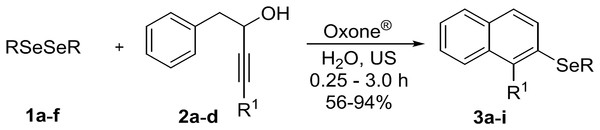 Synthesis of 2-organochalcogenyl-naphtalenes.