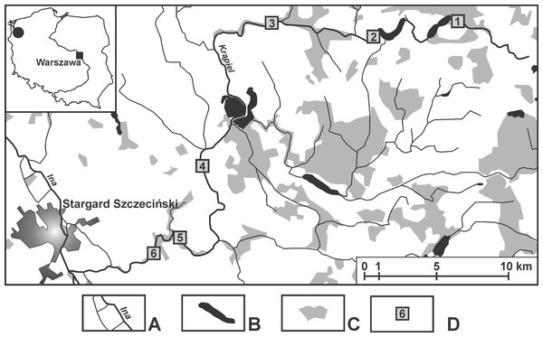 Location of the sampling sites.