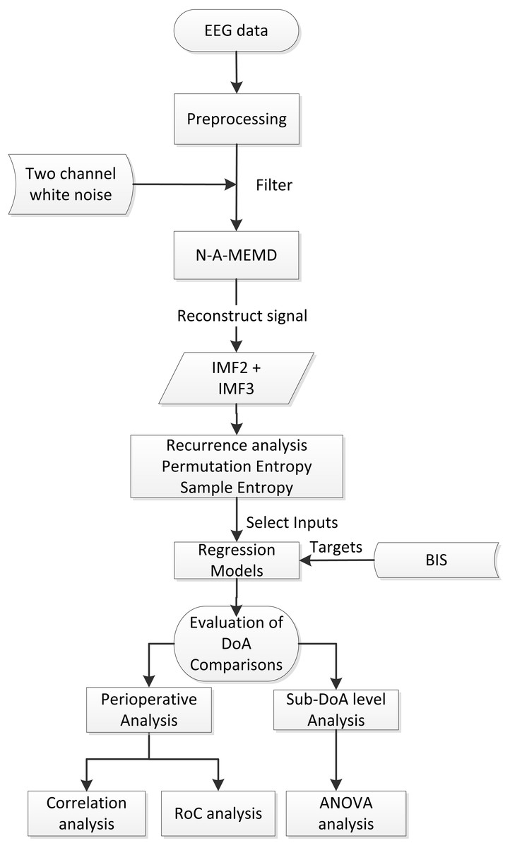 Sample Entropy Analysis For The Estimating Depth Of Anaesthesia Brane Space Introduction To Basic Physics Electric Circuits Pt 21 Diagram General Work Flow