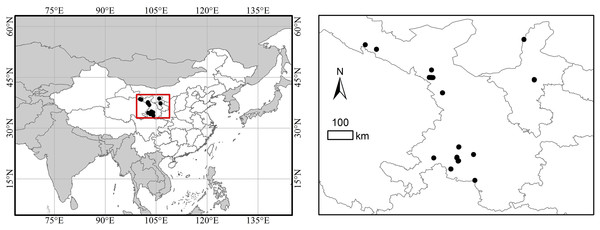 Location of the study area and sampling plots.