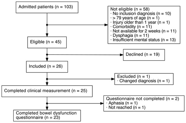 Flowchart of patients with acquired brain injury (ABI) included in the present study.