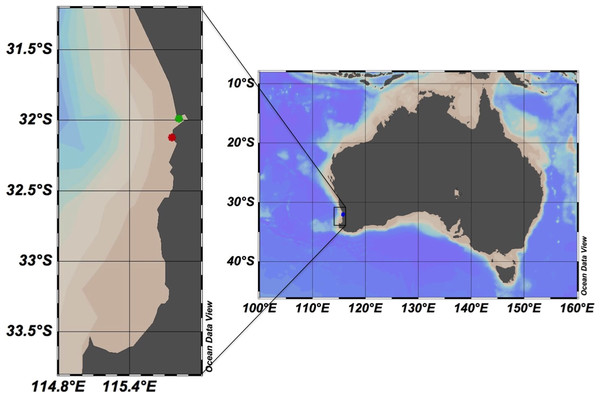 Map showing the study area in Western Australia.