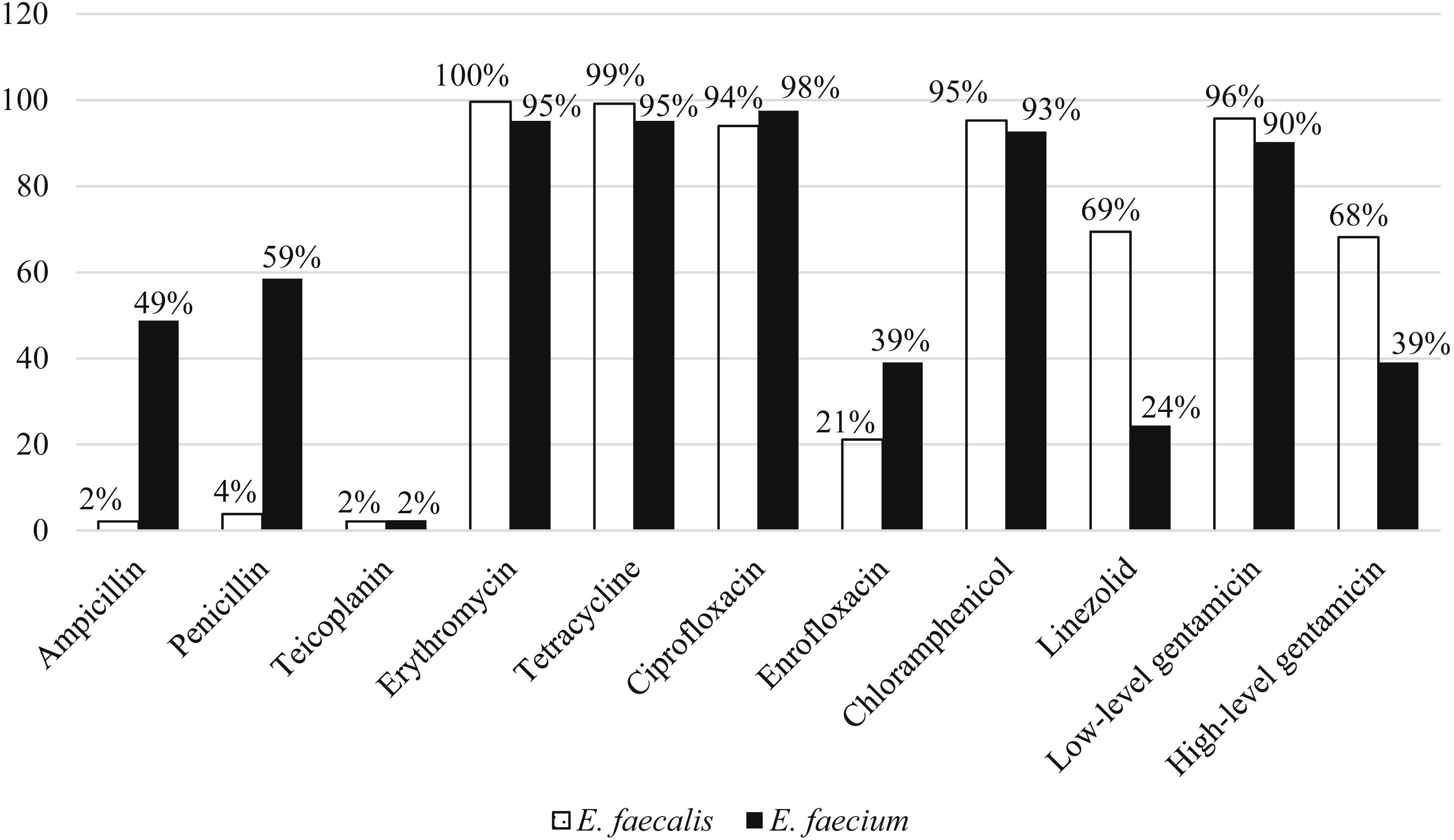 Occurrence of virulent multidrug-resistant Enterococcus