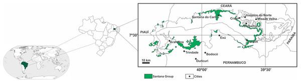 Location of the Araripe Basin.