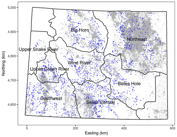 Map of Wyoming and its working groups.