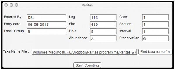 Dialog to enter general sample metadata.