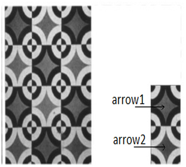 Example of an illusion, exhibiting lightness assimilation.