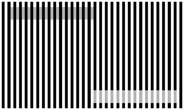 Example of White's illusion.
