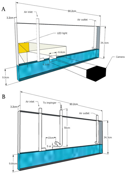 Schematic of flumes used in laboratory experiments.