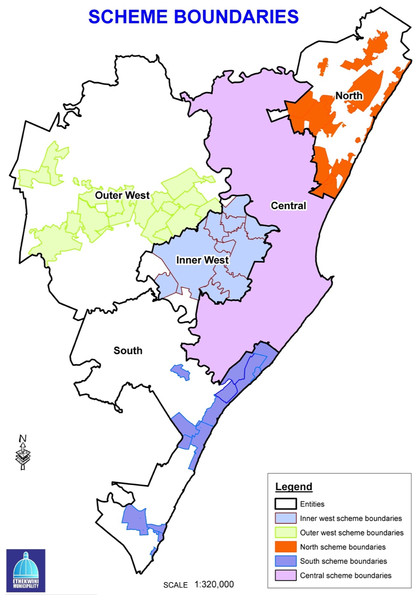eThekwini Municipality Spatial Planning Regions and areas within these covered by town planning schemes.