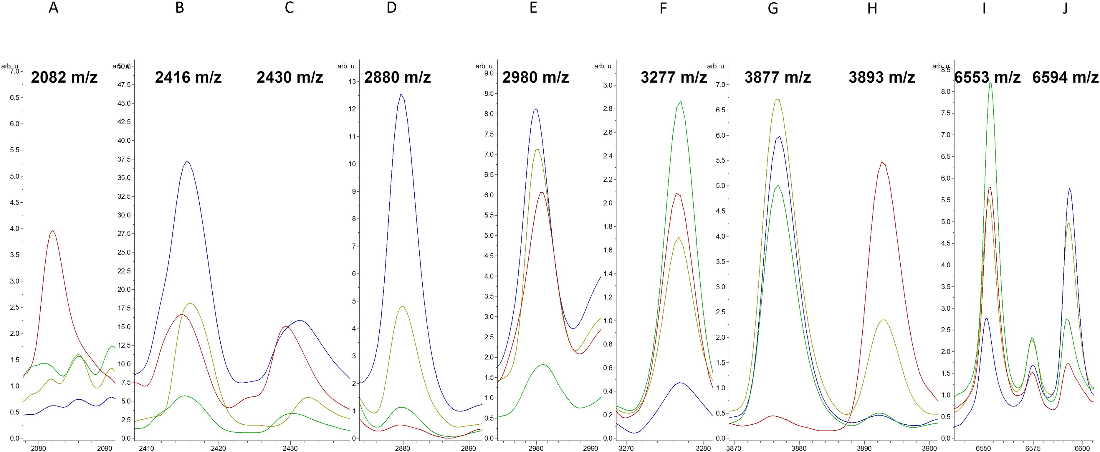 Application of a MALDI-TOF analysis platform (ClinProTools