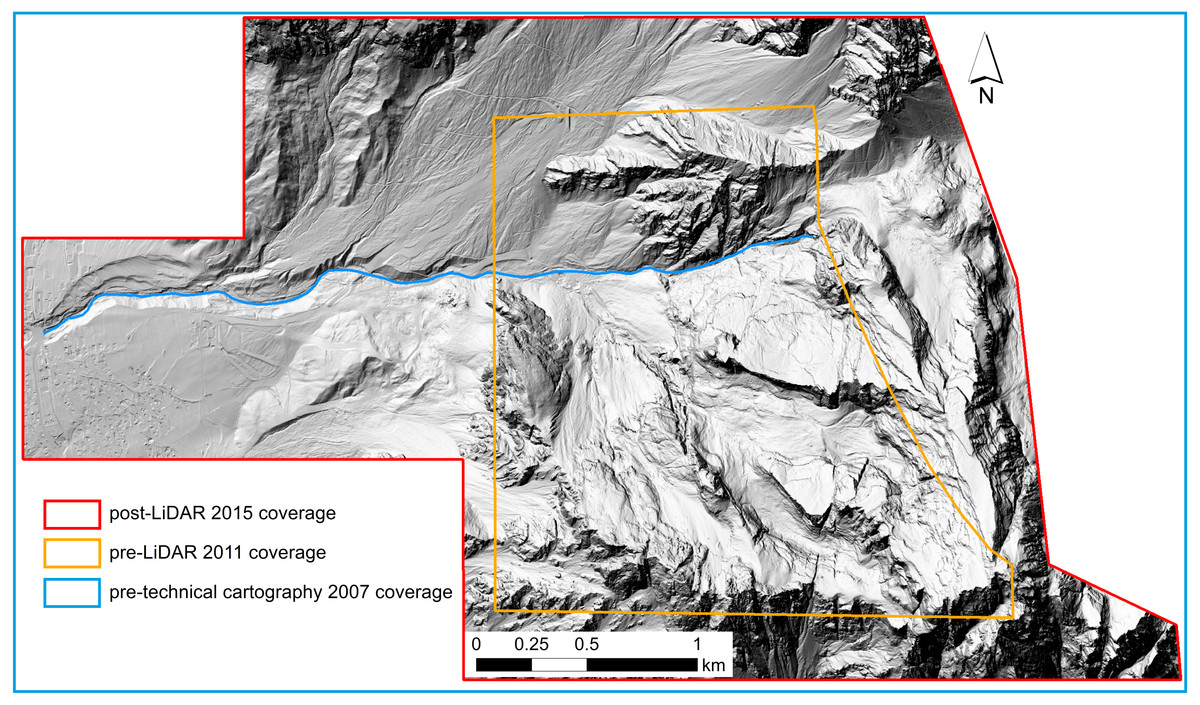 Modelling the dynamics of a large rock landslide in the Dolomites