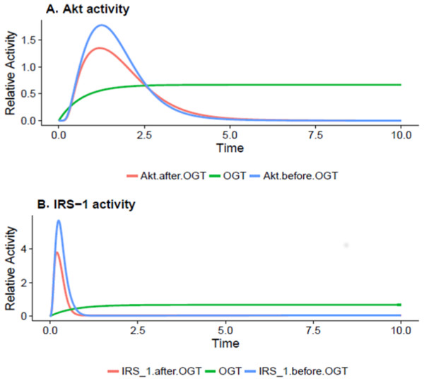 OGT reduces Akt and IRS-OGT reduces Akt and IRS-1 activation via O-GlcNAcylation in insulin-resistant cells.