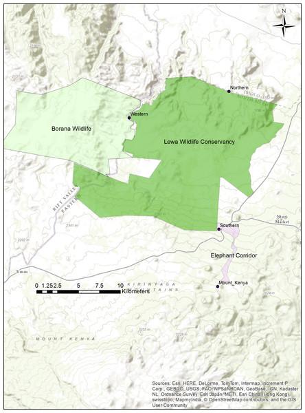 Map of the Lewa–Borana Landscape (LBL).