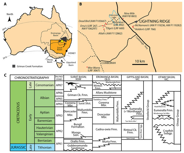 Mid-Cretaceous geology of Australia.