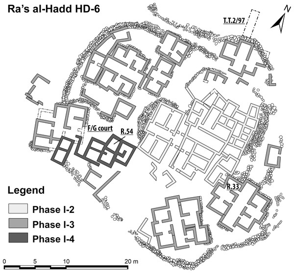 Plan of the Early Bronze Age occupation at Ra's al-Hadd HD-6, Oman.