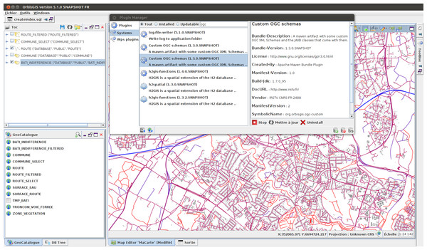 OrbisGIS dynamic module system with OSGi.