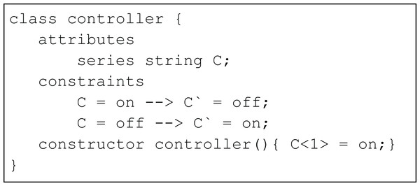 Simple controller using conditional constraints.