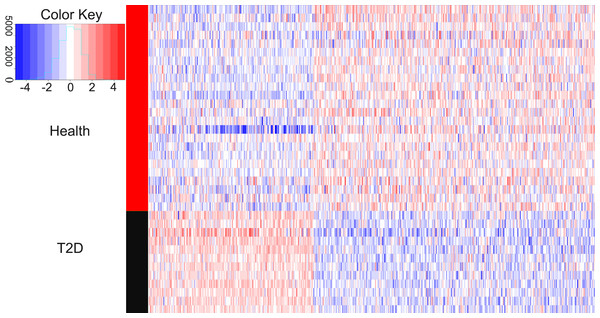 Heatmaps of differentially expressed genes.