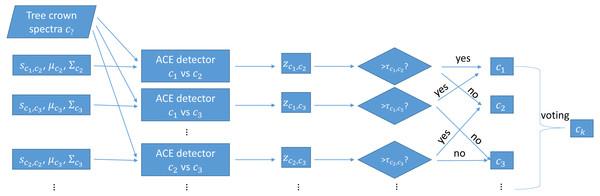 Testing using one-vs-one MI-ACE algorithm.