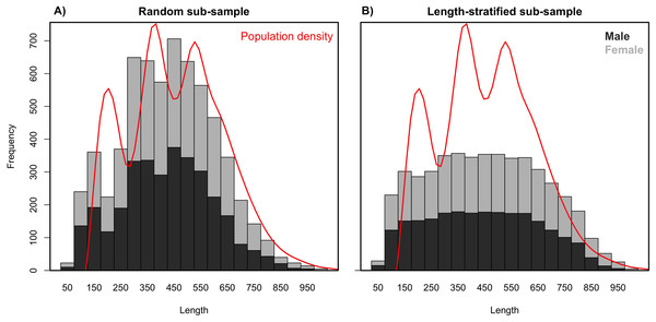 Length frequency distributions.
