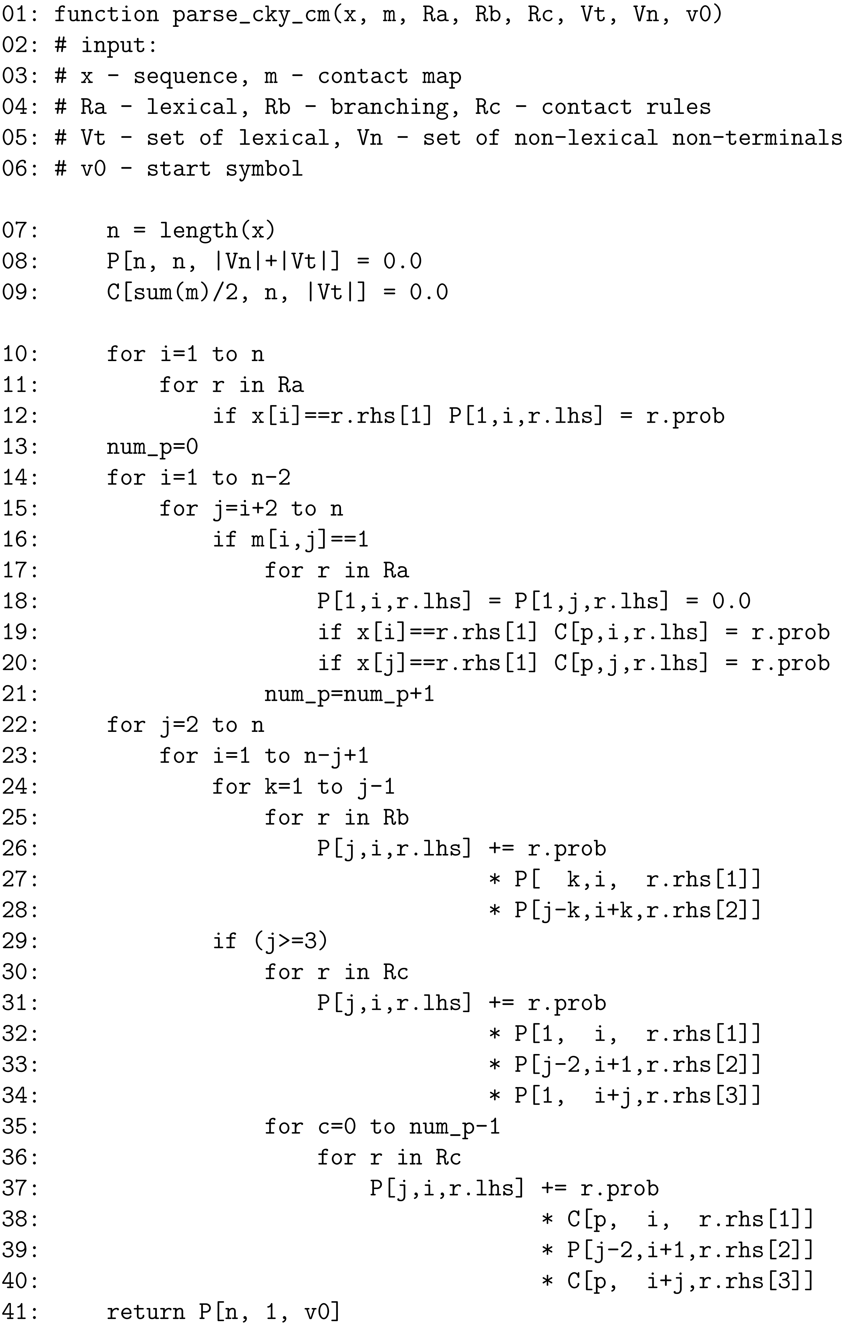 Estimating probabilistic context-free grammars for proteins using