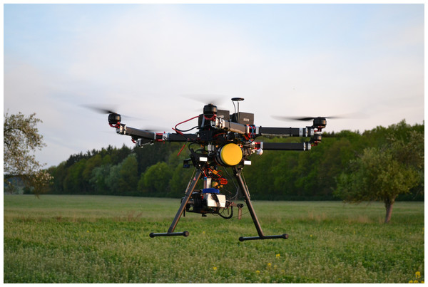 HEXACOPTER GD HX-1100F ZODIAC UAV equipped with a Workswell WIRIW 2nd gen. camera.