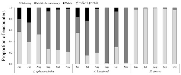 Monthly patterns in frog behavior.
