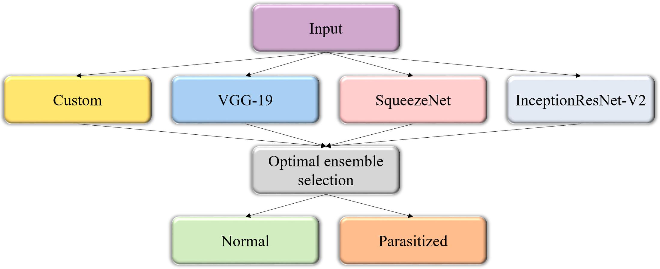 Performance evaluation of deep neural ensembles toward malaria