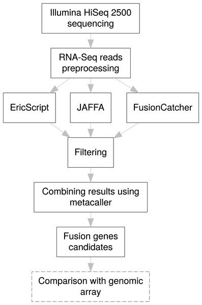 Pipeline design for fusion gene identification.