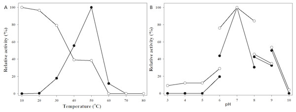 Effect of temperature and pH on MtBgl85.
