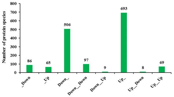 Transcriptomic and proteomic quantification relationships.