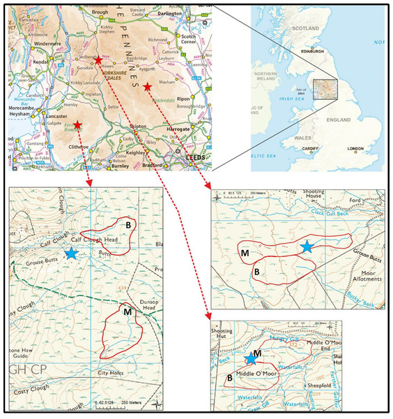 Field site and catchment locations to provide a geographic context.