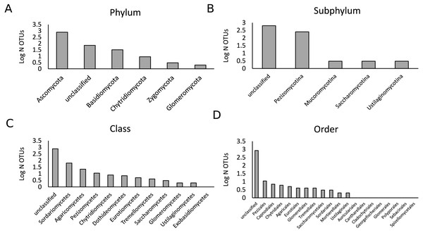 Description of the fungal community in the present study.
