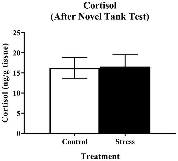 Measure of zebrafish neuroendocrine function after the novel tank test.