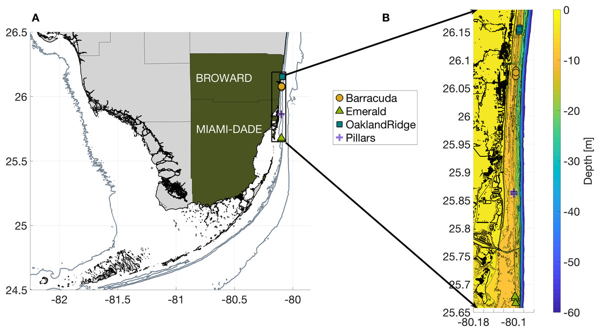 Oceanographic habitat and the coral microbiomes of urban