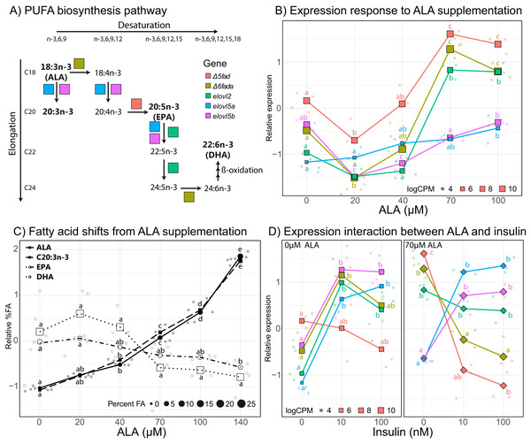 Effect of ALA and insulin on PUFA biosynthesis in liver slices.