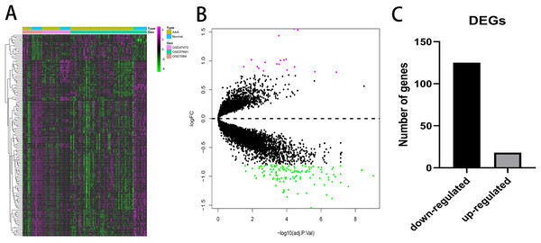 Differential expressed genes analysis.