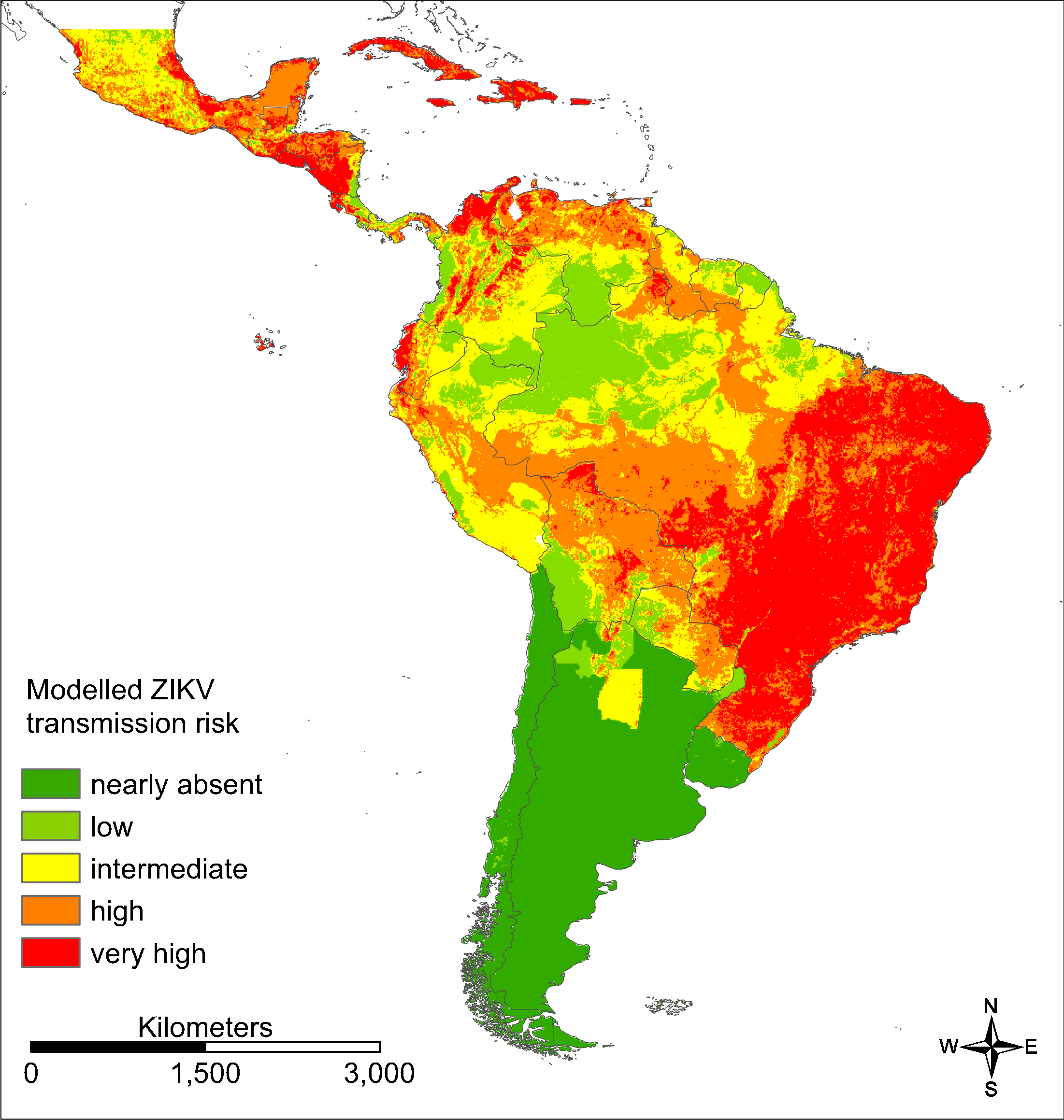Us Zika Risk Map Vector distribution and transmission risk of the Zika virus in