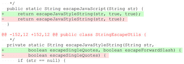 Example of method change without behavior modification to preserve API compatibility.