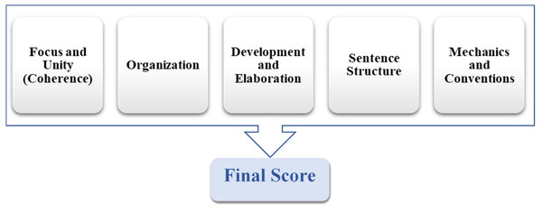 The IntelliMetric features model.