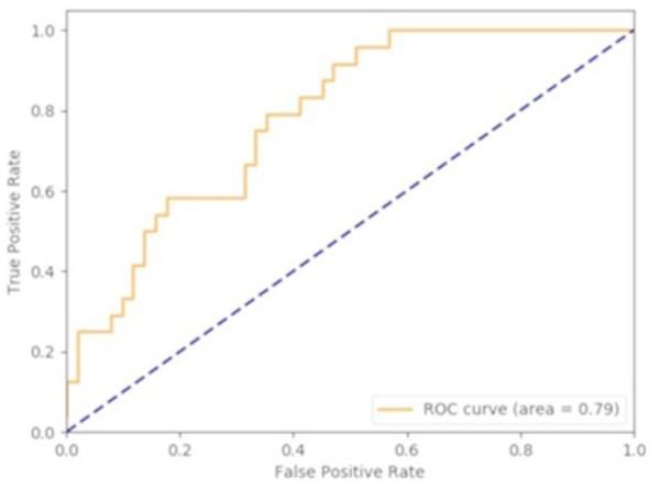 DeepMoney area under curve.