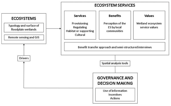 The methodological approach for ecosystem valuation in the Usumacinta floodplain (modified from TEEB in Policy (2011), Ciftcioglu (2017) and Haines-Young & Potschin (2018)).