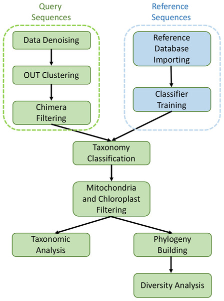 Graphical workflow of metagenomic analysis in our study.