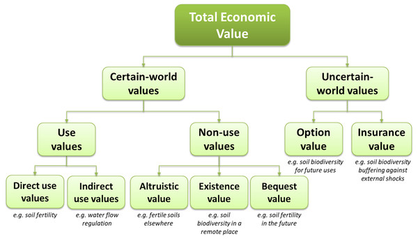 The Total Economic Value framework with insurance value.